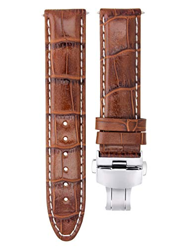 22MM Leather Watch Strap Band for BAUME Mercier CLASSIMA 8692,8733 L/Brown WS #7