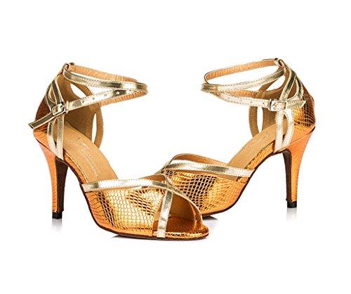 Meijili - plataforma mujer , color Dorado, talla 38