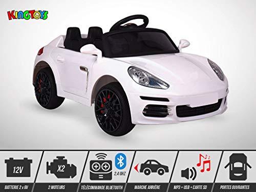 Voiture Électrique Roadster Kingtoys Enfant Gt3 50w Blanc 7Ybf6gyv