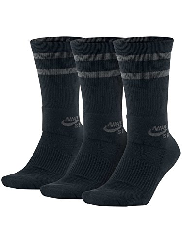 Nike SB Dry Crew Socks Black Mens Medium (6-8.5)