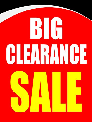 Big Clearance Sale Business Retail Display Sign, 18