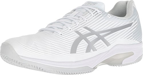 ASICS Men's Solution Speed FF Clay Tennis Shoe, White/Silver, 9.5 M US