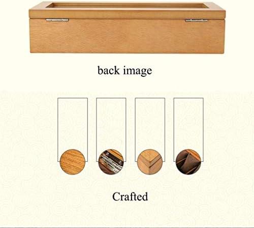 SBSNH ストレージボックス-5ビットヴィンテージ木製天窓ウォッチボックスウォッチディスプレイボックスコレクションストレージボックスジュエリーボックス
