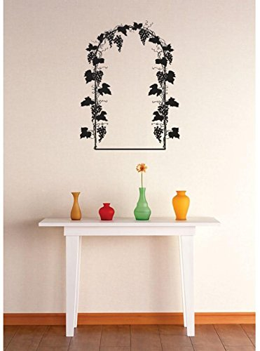 Top Selling Decals - Prices Reduced : Vinyl Wall Sticker : Grapevine Arch Image Bedroom Bathroom Living Room Picture Art Peel & Stick Mural Size: 20 Inches X 30 Inches - 22 Colors Available