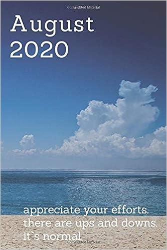 August 2020 Personal Calendar Calendars 2020 Notebooks Fancy 9781688405127 Amazon Com Books