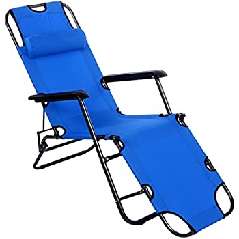 f d folding chaise lounge chair folded recliner beach chaise portable cot w. Black Bedroom Furniture Sets. Home Design Ideas