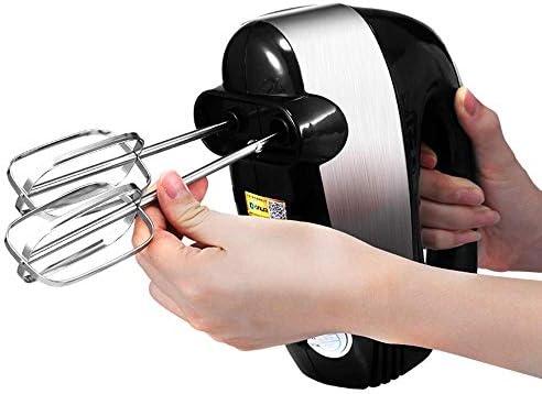 Electric Hand Mixer, 300W Professional 5 snelle Handheld Klop met Turbo-knop, Electric Whisk for Kitchen Baking Cake Egg Cream Eten Beater, 2X Kloppers, 2X deeghaken hfhdqp