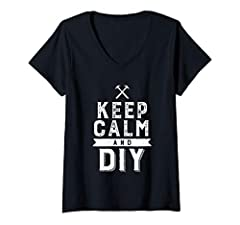 Keep Calm and DIY apparel. Funny and humorous design for those who love do-it-yourself furniture, life hacks or handmade craft. This vintage and retro clothing is great for handyman, carpenter or woodworker. Perfect for anyone who love to mak...