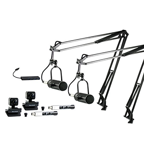 - MXL VPS-DUO Visual Podcasting Station with 2 Microphones and 2 Cameras