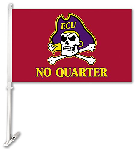 UPC 015889972287, NCAA East Carolina Pirates Car Flag with Free Wall Brackett