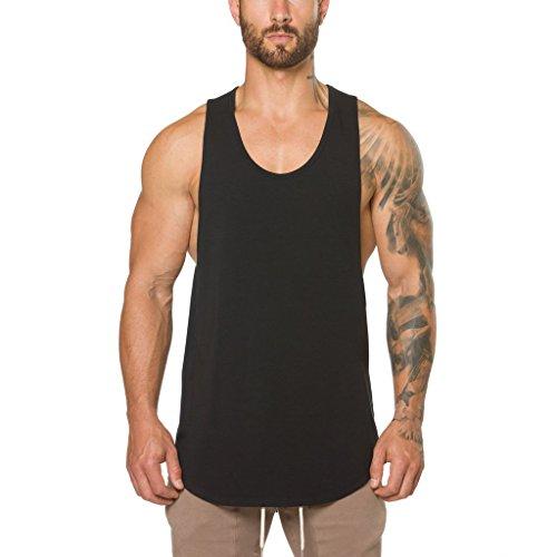 Ouber Mens Gym Bodybuilding Workout Stringer Tank Top