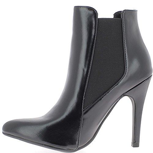 Tacón de 10.5 cm mujeres negras botas pintado final señaló