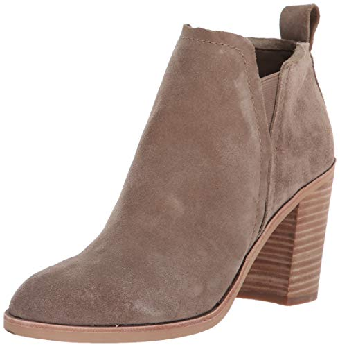 Dolce Vita Women's Simone Ankle Boot, Dark Taupe Suede, 7.5 M US