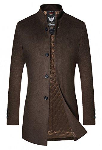 Brown 2 Button Wool - 3