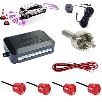 Kit 4 Sensores de aparcamiento coche furgonetas Camper rojos ...