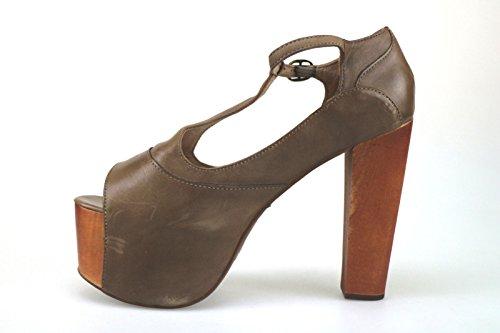 Zapatos mujer JEFFREY CAMPBELL Sandalias marrón cuero AK761