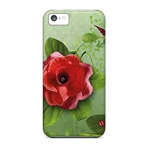 Excellent Design Red Roses Strawberries Phone Case For Iphone 5c Premium Tpu Case