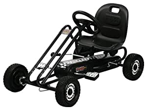 Hauck Traxx Lightning Pedal Go-Kart, Titan Black