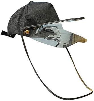 XGNA Full Face Protective Shield Cap Protective HD Transparent Shield Hat Anti-saliva Windproof Dustproof Hat Empty Top Hat