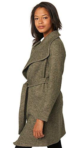 Tom Tailor Long Belted Wool Mix Coat, Abrigo para Mujer verde musgo