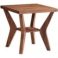 Modus Furniture 9KC722 Leighton End Table, Walnut