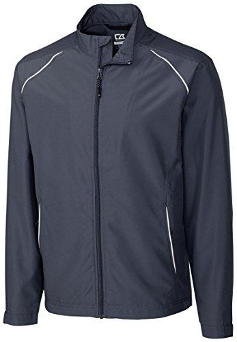 Weathertec Jacket (Cutter & Buck MCO00923 Mens Cb Weathertec Beacon Full Zip Jacket, Onyx-M)