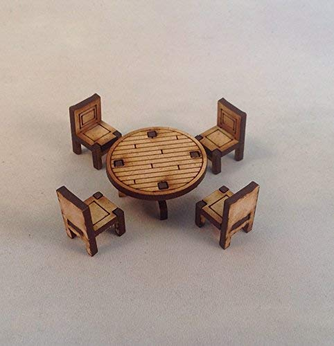 Furniture MDF 28mm Kit Table Chairs Tombstone Desperado Legends of the Old West Terrain FAST SHIPPING