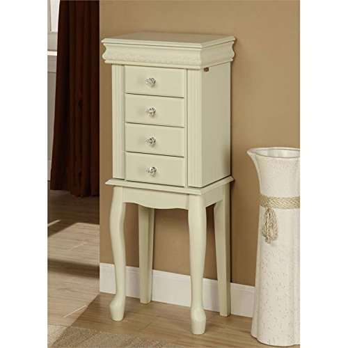 - Linon Elizabeth Jewelry Armoire in White