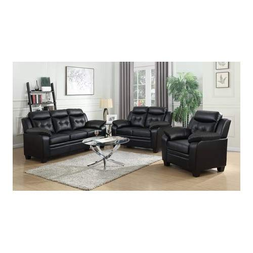 Coaster Home Finley Casual Brown Three-Piece Living Room Set in Black