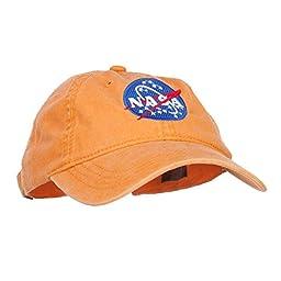 NASA Insignia Embroidered Pigment Dyed Cap - Orange OSFM