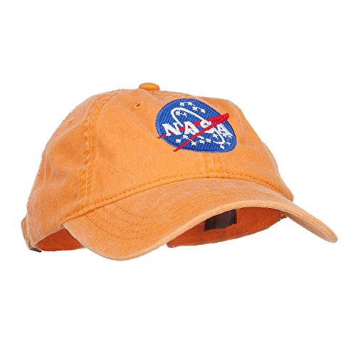 709a2cb9a1198 NASA Insignia Embroidered Pigment Dyed Cap - Orange OSFM