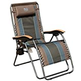 Timber Ridge Zero Gravity Locking Patio Outdoor Lounger Chair Oversize XL Padded Adjustable Recliner with...