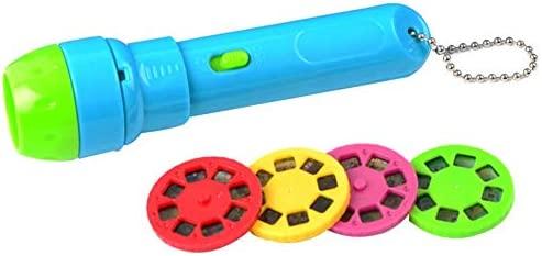 rosemaryrose Linterna Cuentos Infantil Linterna Proyector Cuentos - Juguete Proyector De Iluminación LED De Cuentos Clásico para Niños (con Batería De ...
