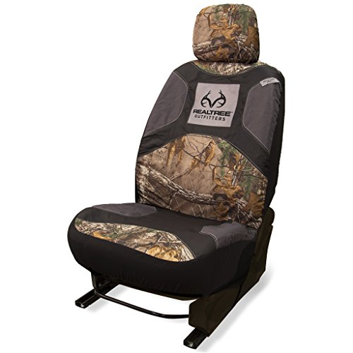 Bucket Seat Headrests (Realtree Low-Back Camo Bucket Seat Cover (Realtree Xtra Camo, Durable Polyester Fabric, Includes Headrest Cover, Sold Individually))