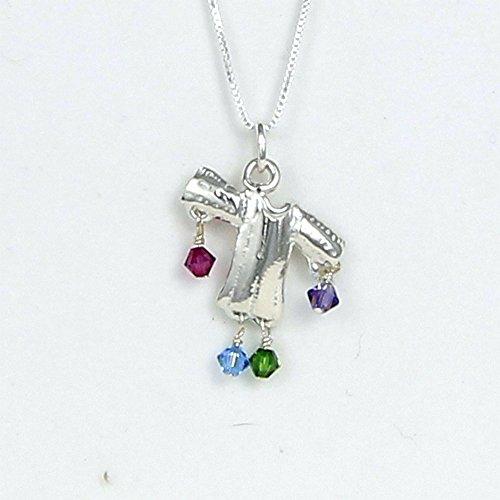 Joseph Amazing Dreamcoat Necklace Sterling Silver - Story Card, Gift Boxed - Handcrafted in USA - 20