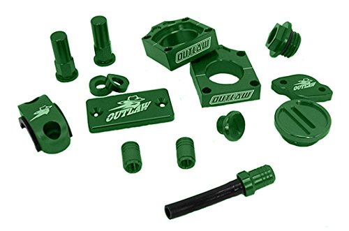 Billet Cap Rear Axle (Outlaw Racing Complete Billet MX Motocross Kit Green KX250F KX450F)