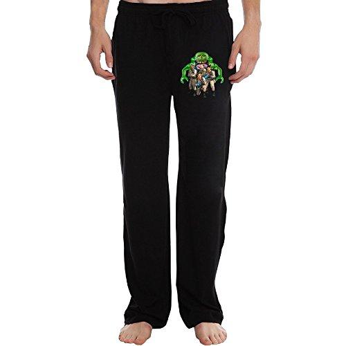 PTR Men's Ghostbusters Workout Pants Color Black Size XXL -