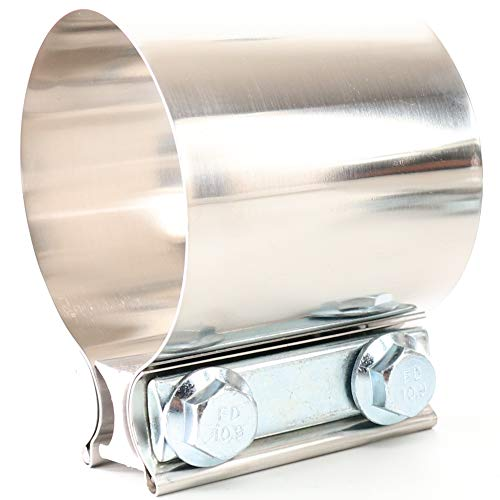 "TOTALFLOW 3"" TF-JB60 304 Stainless Steel Butt Joint Exhaust Muffler Clamp Band-3 Inch"