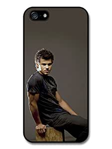 diy case Taylor Lautner Sitting Wood Photoshoot case for iPhone 6 4.7