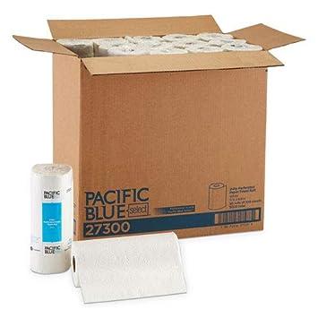 Profesional rollo de toalla de papel perforado, 11 x 8 7/8, White, 100 hojas/rollo (27300rl): Amazon.es: Hogar