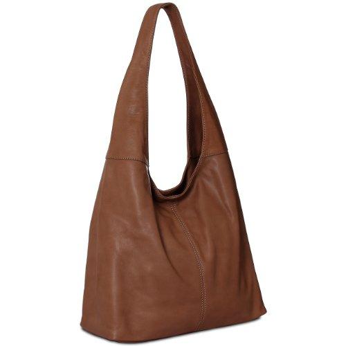 Shopper CASPAR Handbag Maroon made from Tote TL610 Nappa colours Shoulder many Bag Soft Womens Leather rZZFawqI1