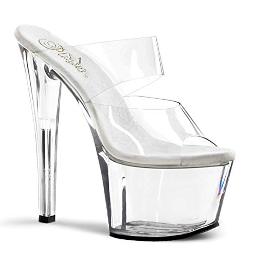 Pleaser Women's Sky-302,Clear,9 M