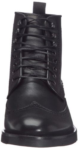 Hudson Wright Calf Mens Leder Ankle Boots - schwarz