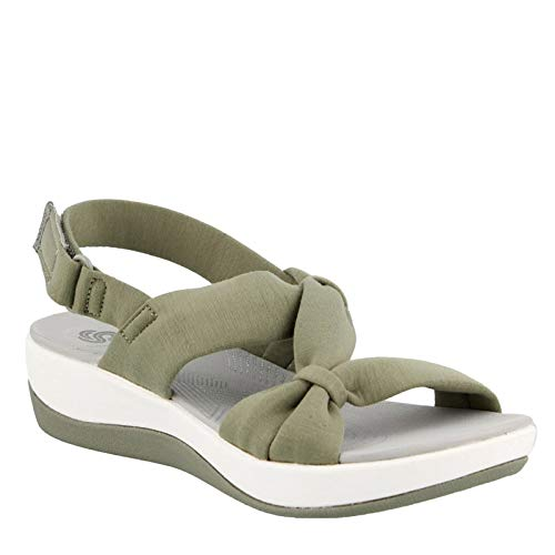- CLARKS Women's, Arla Primrose Sandal Olive 8.5 M