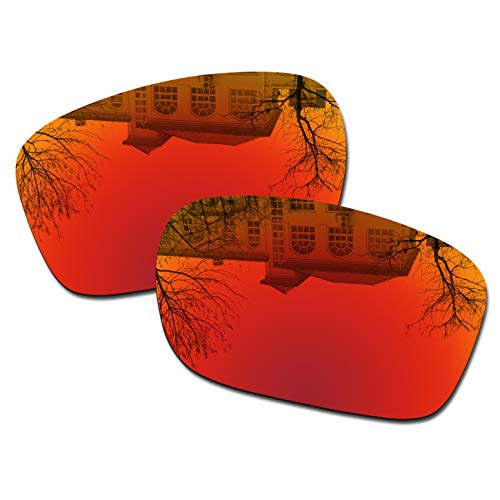 Millersawp Holbrook OO9102 Replacement Lenses Compatiable with Oakley Sunglass-Red Iridium (Holbrook Red Iridium)