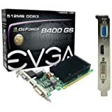 eVGA, EVGA 512-P3-1301-KR GeForce 8400 GS Graphics Card - 520 MHz Core - 512 MB DDR3 SDRAM - PCI Express 2.0 x16 (Catalog Category: Computer Technology / Multimedia Devices)