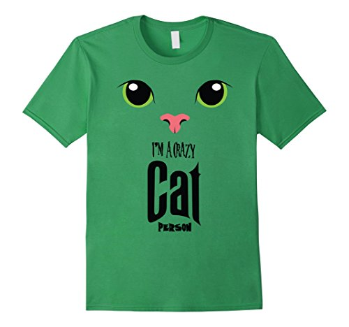 Mens Halloween Tees Gift Funny Shirt   Crazy Cat Person 2XL (Crazy Person Costume)