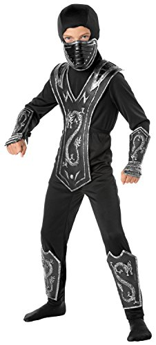 Ninja Master Costumes (Dragon Master Ninja Costume, Small (4-6))