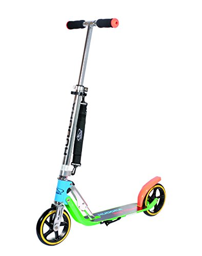 HUDORA 14747 Foldable Scooters with Big PU Wheel Aluminum Kick Scooter Height Adjustable
