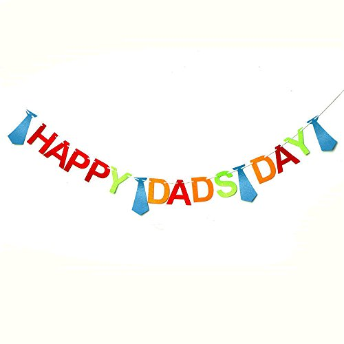 Happy Father's Day Bunting Banner Daddy's Day Party Decorations Backdrop Garland for Father's Day -